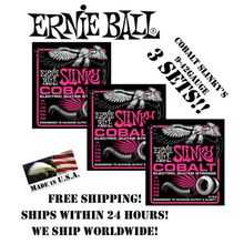 3 Packs! Ernie Ball Cobalt Super Slinky 2723 Electric Guitar Strings Set, .009 – .042