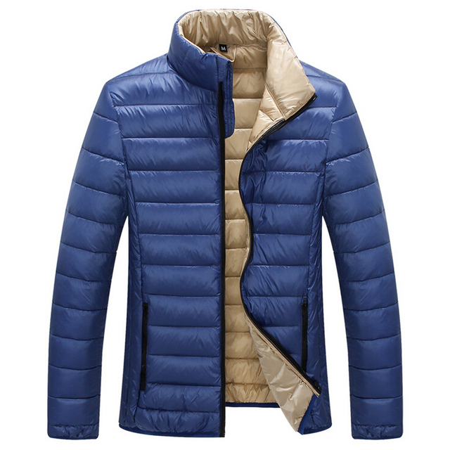 New Arrival Down Jacket Jacket Men Fashion Slim Solid Thin Ultralight White Duck Down Jacket Men Down Jacket Parka Plus Size 3XL