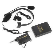 VHF Stage Wireless Lavalier Lapel Headset Microphone System Mic FM Tra