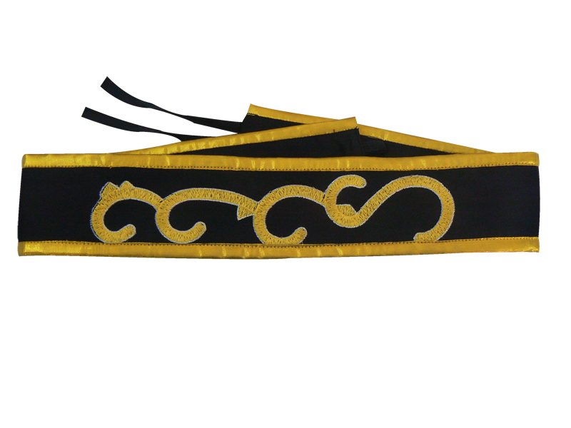 Wushu Belt Embroidered Belt Nail Gun Belt Solid Wrist Embroidery Bracers Gun Ding Custom Bracers