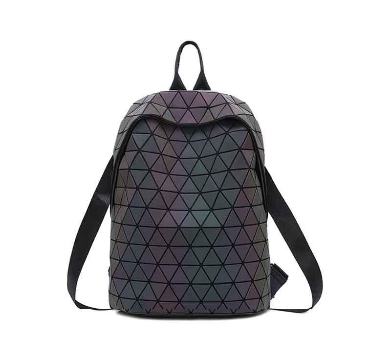 HTB1s.5fKmzqK1RjSZFLq6An2XXaT Luminous Backpacks Women Geometric Laptop Backpack For Men Shoulder Backpack School Holographic Rucksack Female Trave School Bag