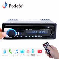 Podofo 1DIN en el tablero de Radios de coche estéreo Control remoto Digital de Audio Bluetooth de música estéreo 12 V del coche de Radio Mp3 jugador de USB/SD/AUX-IN