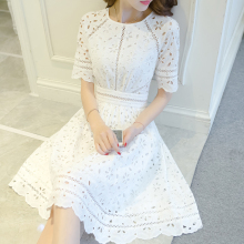 Summer dress with short sleeves wedding and party dress