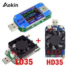 USB 2,0 Тип-C ЖК-дисплей Вольтметр Амперметр Напряжение измеритель тока, для батареи зарядки измерения UM25 UM25C для приложений с 35 Вт LD35 HD35 нагрузки