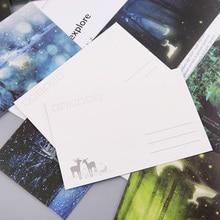 30 шт. винтажная светящаяся открытка светится в темноте лесной стример животное поздравительная открытка Новинка рождественские поздравительные открытки подарок