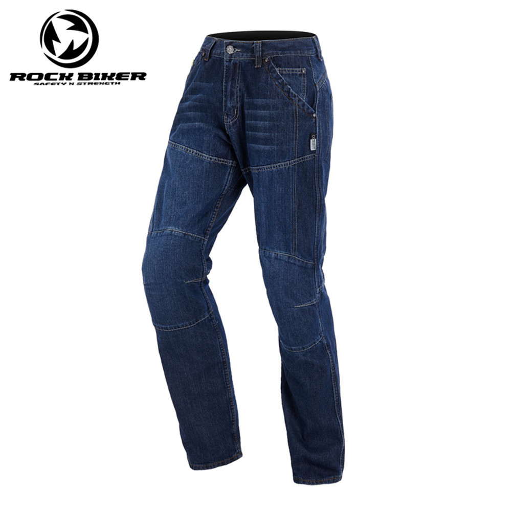 Rock Biker Cotton Denim Jeans Motorcycle Trousers Pantalon Moto Hombre Equipamento Motocross 91947 Racing Pants With Kevlar rock biker men cotton retro denim jeans motorcycle moto racing pants pantaloni motocross motorcycle enduro riding trousers