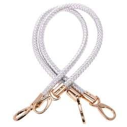1 пара аксессуаров для сумок Женская Регулируемая сумка-кошелек сумка с ручкой 60см-серебро, как описано