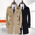 2016 recién llegado de invierno abrigo masculino diseño delgado largo abrigo zanja térmica ocasional prendas de vestir exteriores super gran tamaño más S - 9XL 10XL