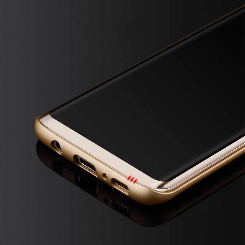 ثلاثية الأبعاد منحني غطاء كامل الزجاج المقسى لسامسونج غالاكسي S9 S9 Plus S8 S8 زائد S7 حافة S6 حافة زائد نوت 8 واقي للشاشة فيلم