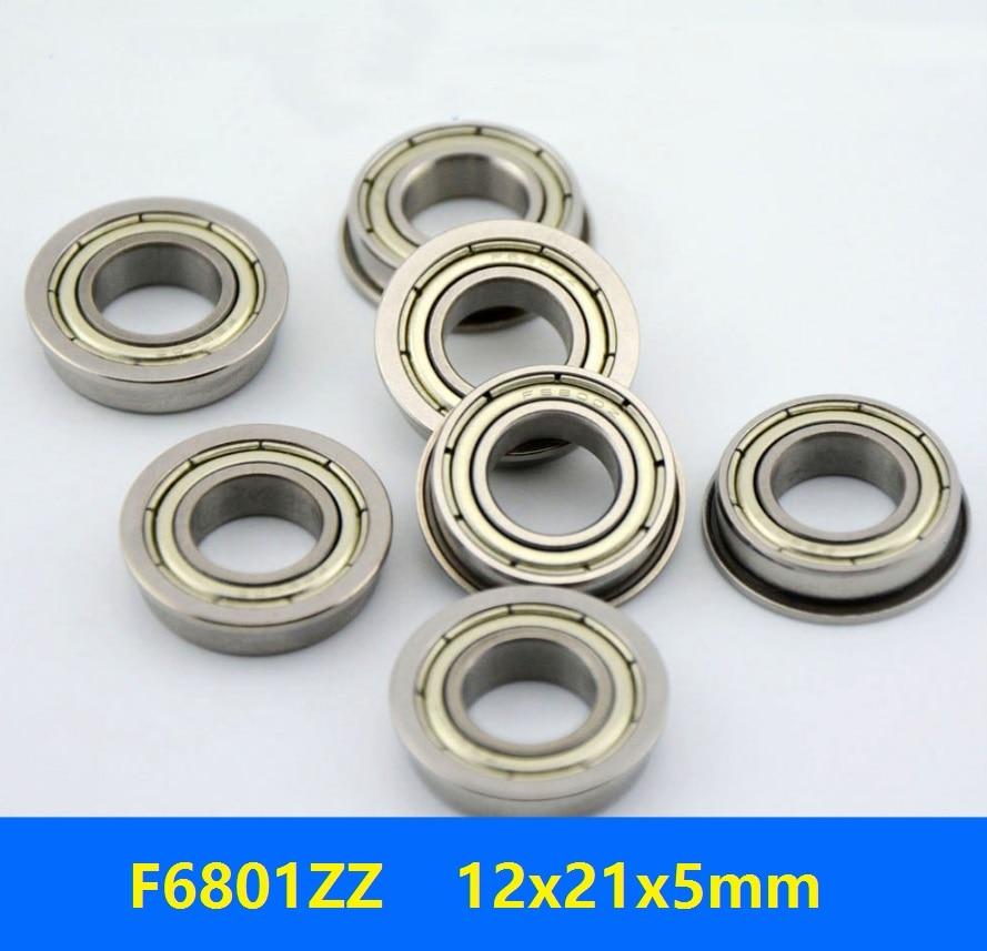 Metric Metal FLANGE Ball Bearing 12*21*5 F6801z 12x21x5mm 10pcs F6801zz