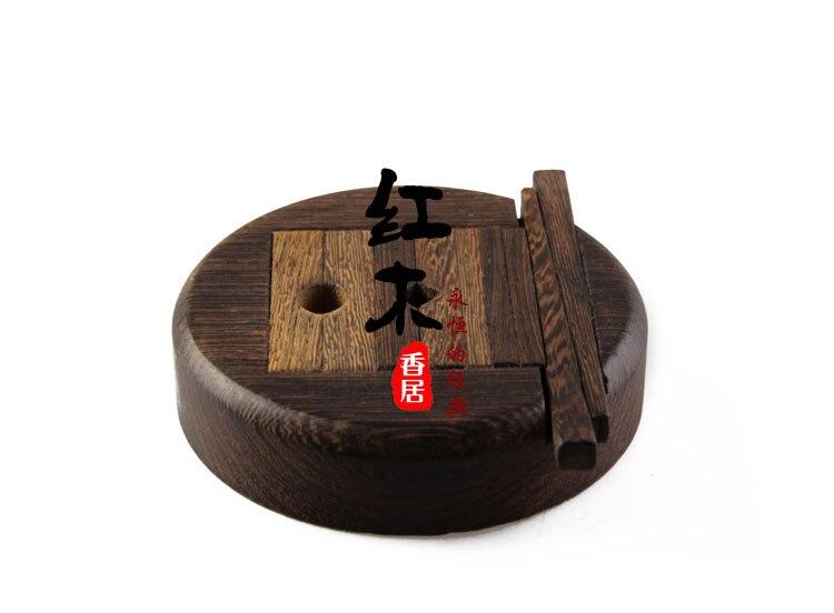 Offre spéciale de acajou artisanat en bois circulaire Timbre Sculpture Outils pierre gravure luminaire lit