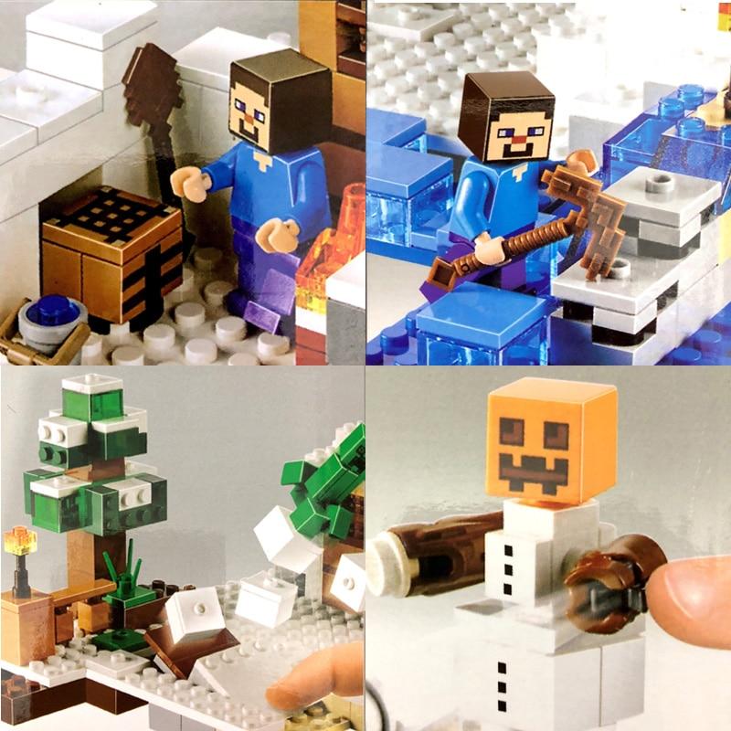 Bela Compatible Legoe Minecrafte Ice My World Zombies Building Blocks - Juguetes de construcción - foto 5