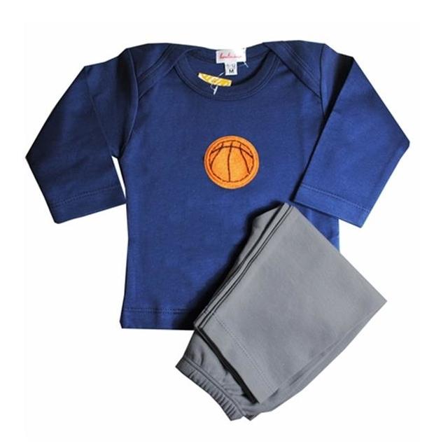 Loralin Design BNK12 Basketball Outfit – Blue 12-18 Months