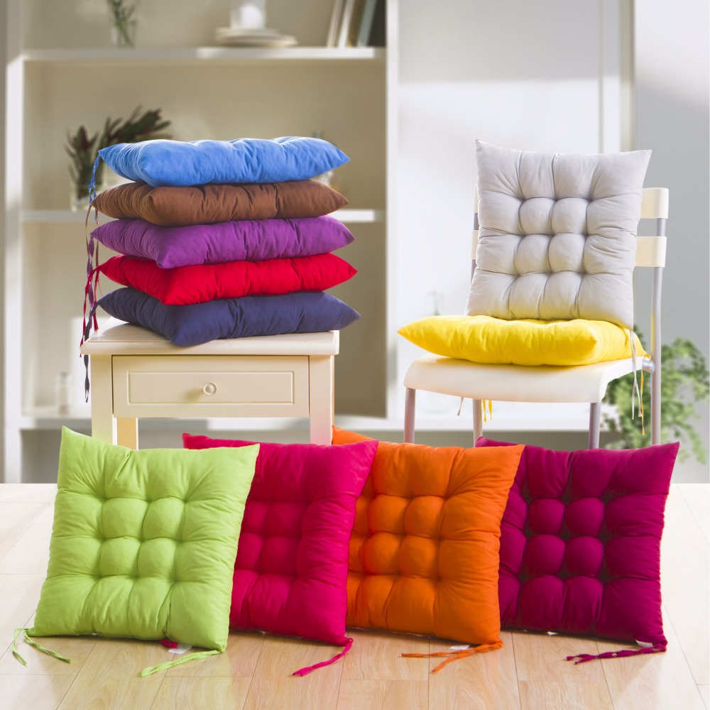 4 пакет мягкий стул подушки квадратный крытый Открытый сад патио дома кухня офис диван подушка сиденья подушки ягодицы подушки колодки 40x40cm подушка