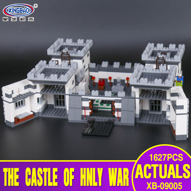 Xingbao 09005 1627Pcs Blocks Series The Castle of Holy Set Children Educational Building Blocks Bricks Boy Toys Model Gifts in stock xingbao 09005 1627pcs blocks series the castle of holy war set educational building blocks bricks boy toys model gifts