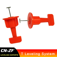 CN ZF 25Bags Plastic Alignment Repeated Using Ceramic Floor Levelers Tools T Tile Leveling System Kits