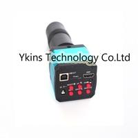 14MP HDMI USB Ultra HD Industry Video Microscope Camera 8X 130X digital zoom 720p 60hz Video output+Camera lens