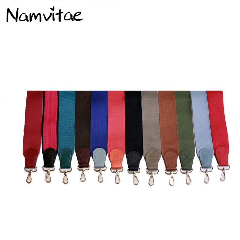 Namvitae Bag Accessories Rivet Women Shoulder Strap PU Leather Flower Lengthened Handbag Strap Replacement Crossbody Strap
