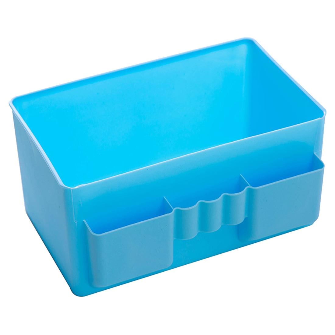 Best Hot Sale Cute Plastic Office Desktop Storage Boxes Makeup Organizer Storage Box #69829(blue)