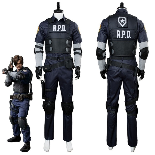 Video Game Resident Evil 2 Leon Scott Kennedy Cosplay Costume Jacket Outfit Halloween Carnival Costumes Custom Made