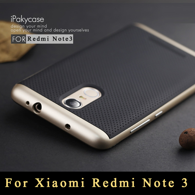 competitive price c11c7 edd1a US $2.99 30% OFF|For Xiaomi Redmi Note 3 Case Original IPaky TPU + PC Frame  Silicon Case cover for Xiaomi Redmi Note 3 Pro Prime Dual Layer Shell-in ...