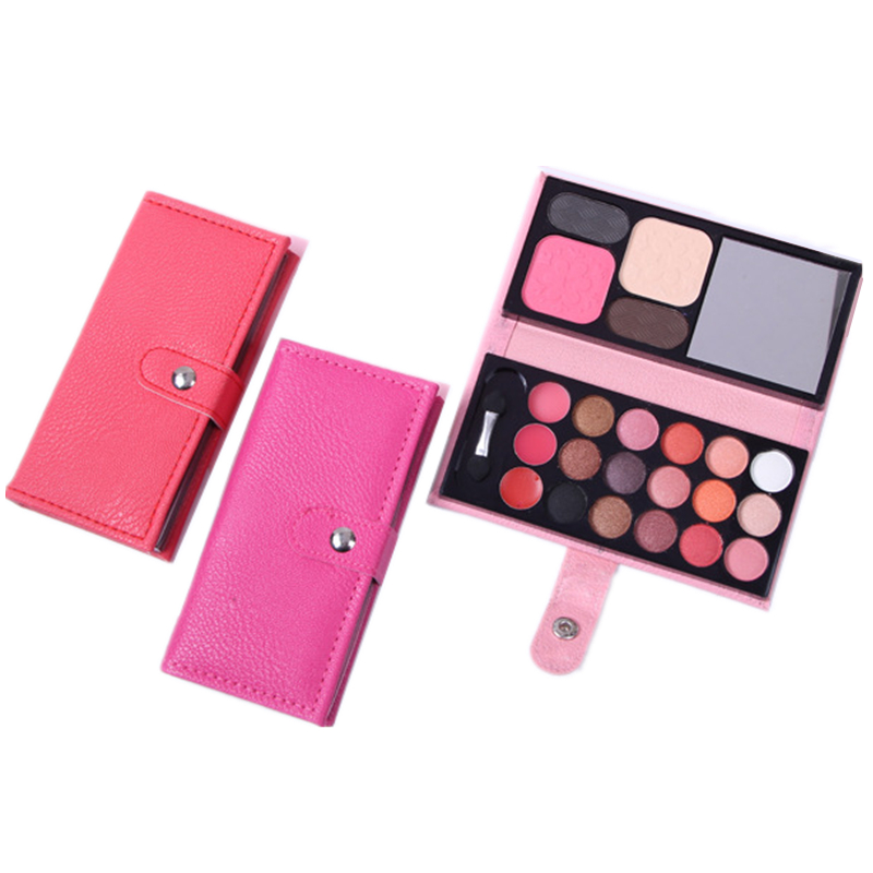 32 Color Portable Wallet Type Eyeshadow Tray Leather Eye Shadow Pearl Combination Eye Shadow Stick Lip Brush Makeup Mirror Blush Eye Shadow Beauty & Health