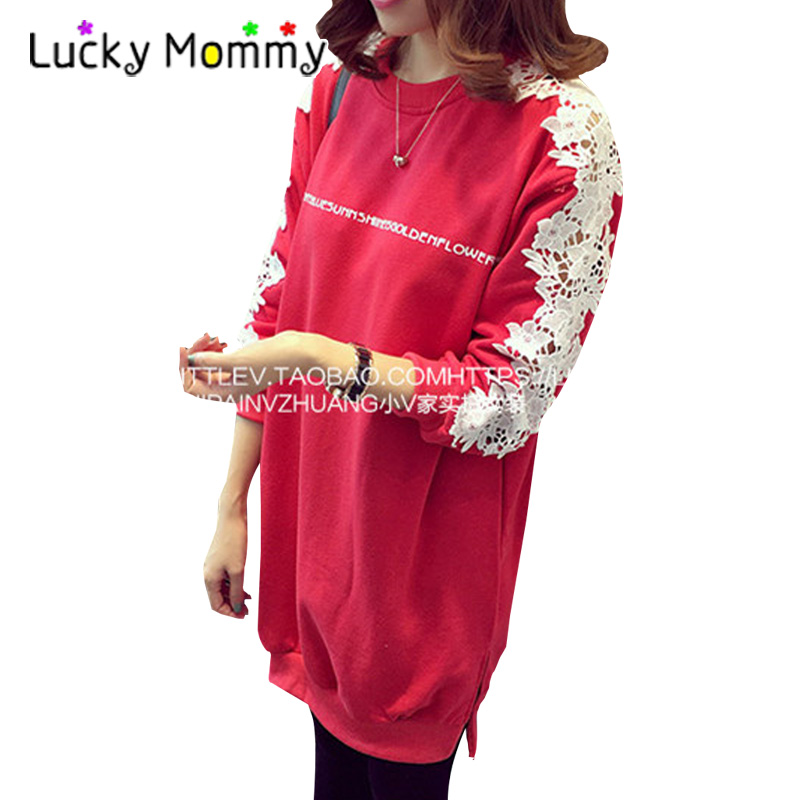 Maternity Nursing Clothes for Winter Warm Fleece Maternity Dresses Pregnancy Clothing for Feeding Vestidos Mujer