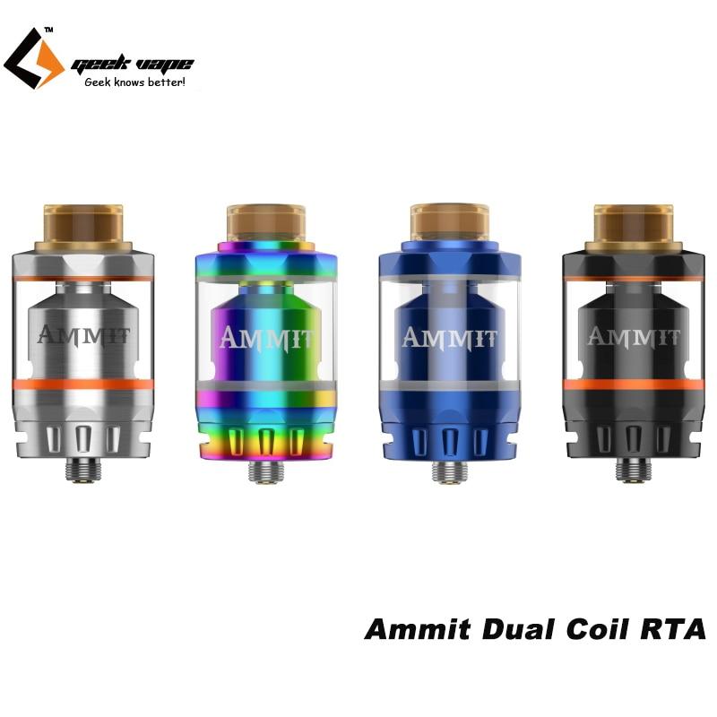 Original Geekvape Ammit Dual Coil RTA Tank 3ml/6ml Atomizer Support Both Dual and Single Coil недорого