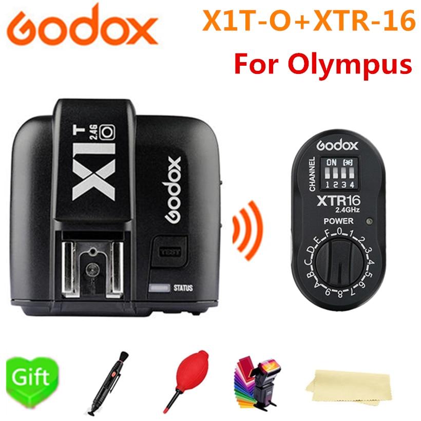 все цены на Godox X1T-O Transmitter TTL HSS Wireless Flash Trigger + XTR-16 Receiver for Olympus Panasonic Cameras AD180 AD360 AD360II онлайн