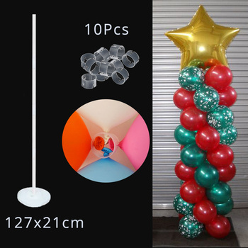 LED Light Air Balls Balloon Stand Column Wedding Table Decoration Balloons Holder Christmas Baloon Baby Shower Birthday Party 7