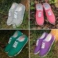 New Casual Lace-Up Women's Shoes Comfortable Canvas Shoes Plus Size Shoes Woman Candy Color Flats EU35-42