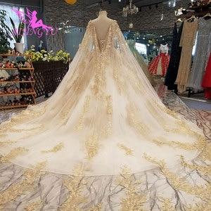 Image 2 - AIJINGYU Wedding Dress Elegant Gowns Ball 2021 2020 Hot Lace Plus Size Rhinestone Modern Gown Bridal Designers