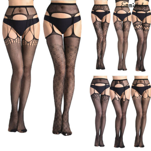 New Womens Sexy Lingerie Fishnet Garter Belt Stockings Thigh Leggings