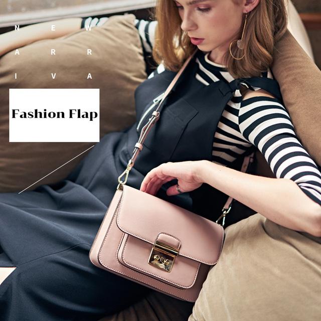 LACATTURA Women Messenger Bags Designer Luxury Handbag Women Leather Shoulder Bag Crossbody for Lady Small Clutch Fashion Purse
