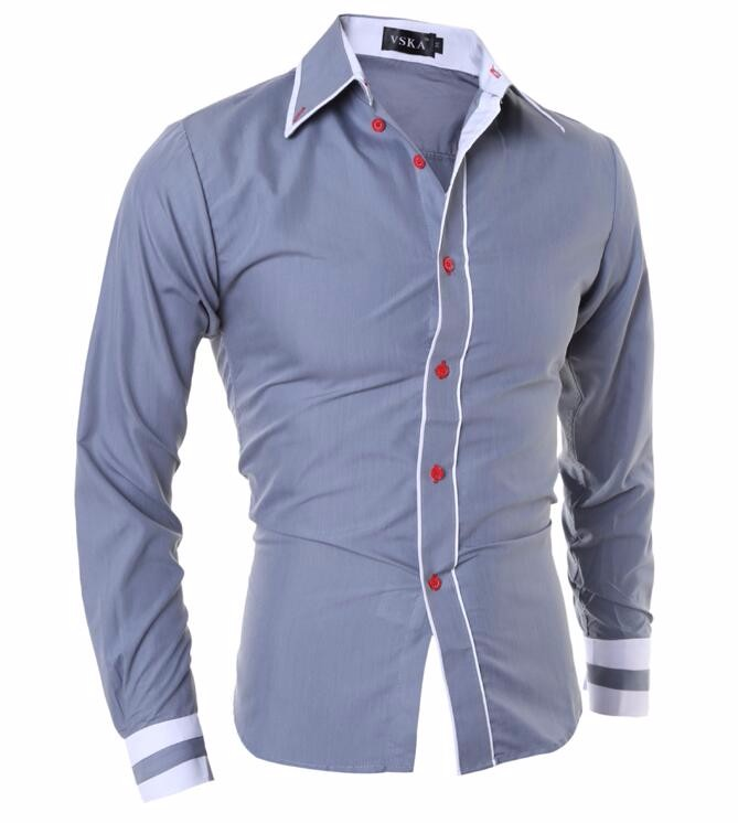 Men Shirt 17 Fashion Brand Men'S Cuff Striped Long-Sleeved Shirt Male Camisa Masculina Casual Slim Chemise Homme XXL SHDWQ 6
