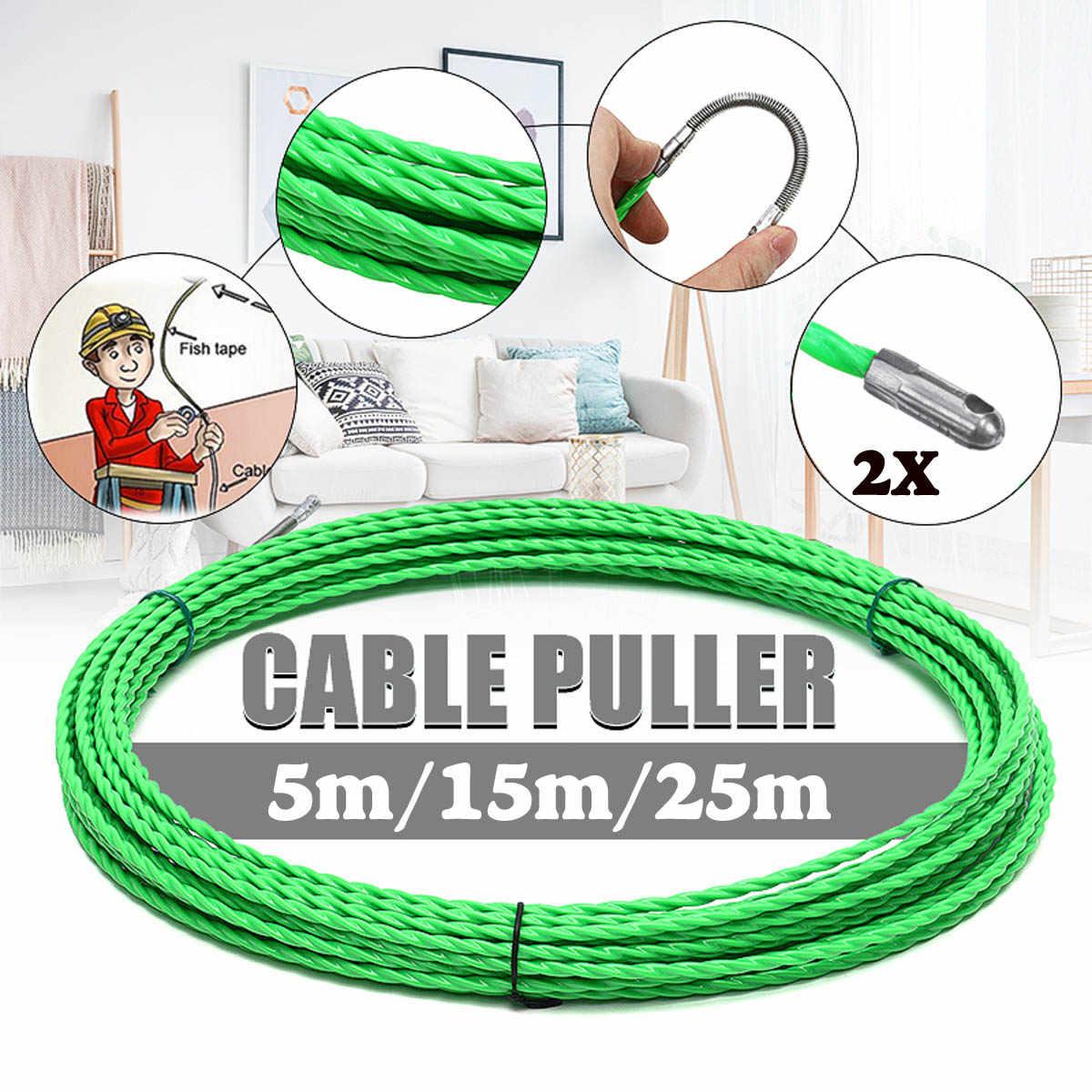 4mm 5 m/15 m/25 m en fibre de verre câble Push extracteurs conduit serpent rongeur poisson bande fil POM poisson dessiner bande électrique câble extracteur