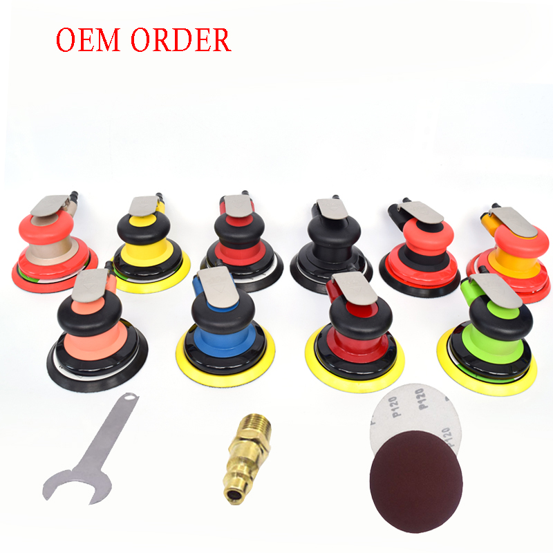 OEM Pneumatic Sanders Air Tools Palm Orbital Sander Polisher 5 Inch 75mm Circle Round Pad OSN 50HE VE New style
