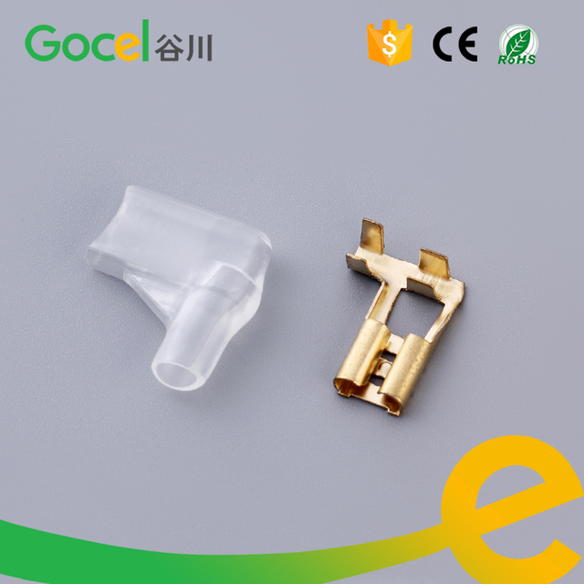 100 sets brass electrical terminal flag type female terminal pvc