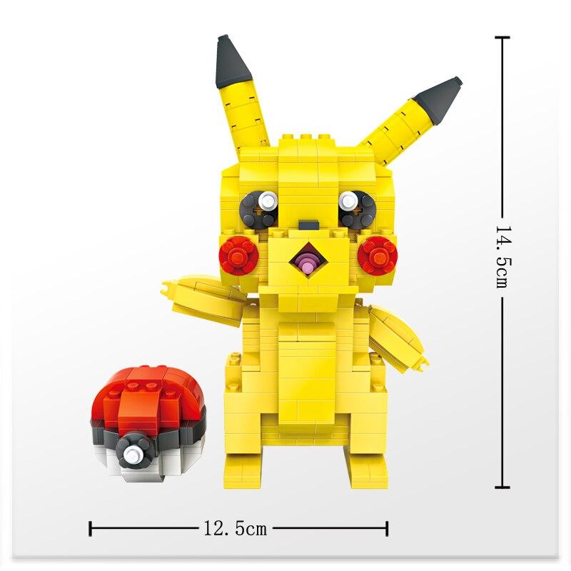 LOZ Picachu Pokeball Action Figur Japan Anime Figurines Byggstenar - Byggklossar och byggleksaker - Foto 3