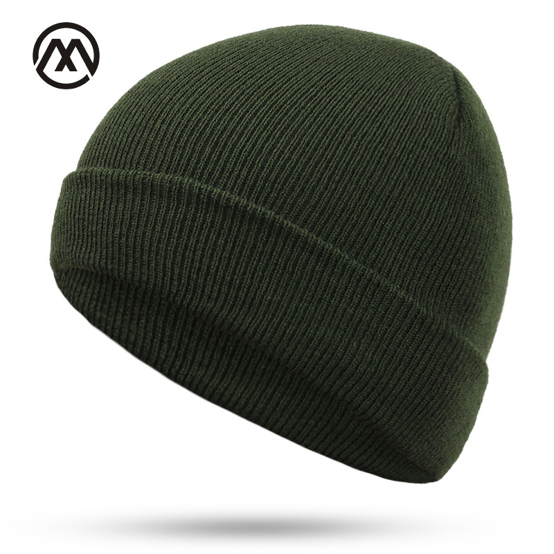 6b1d04ae971 New winter ladies knit hats multi-color optional exquisite work solid color  cotton comfortable unisex men outdoor warm caps bone