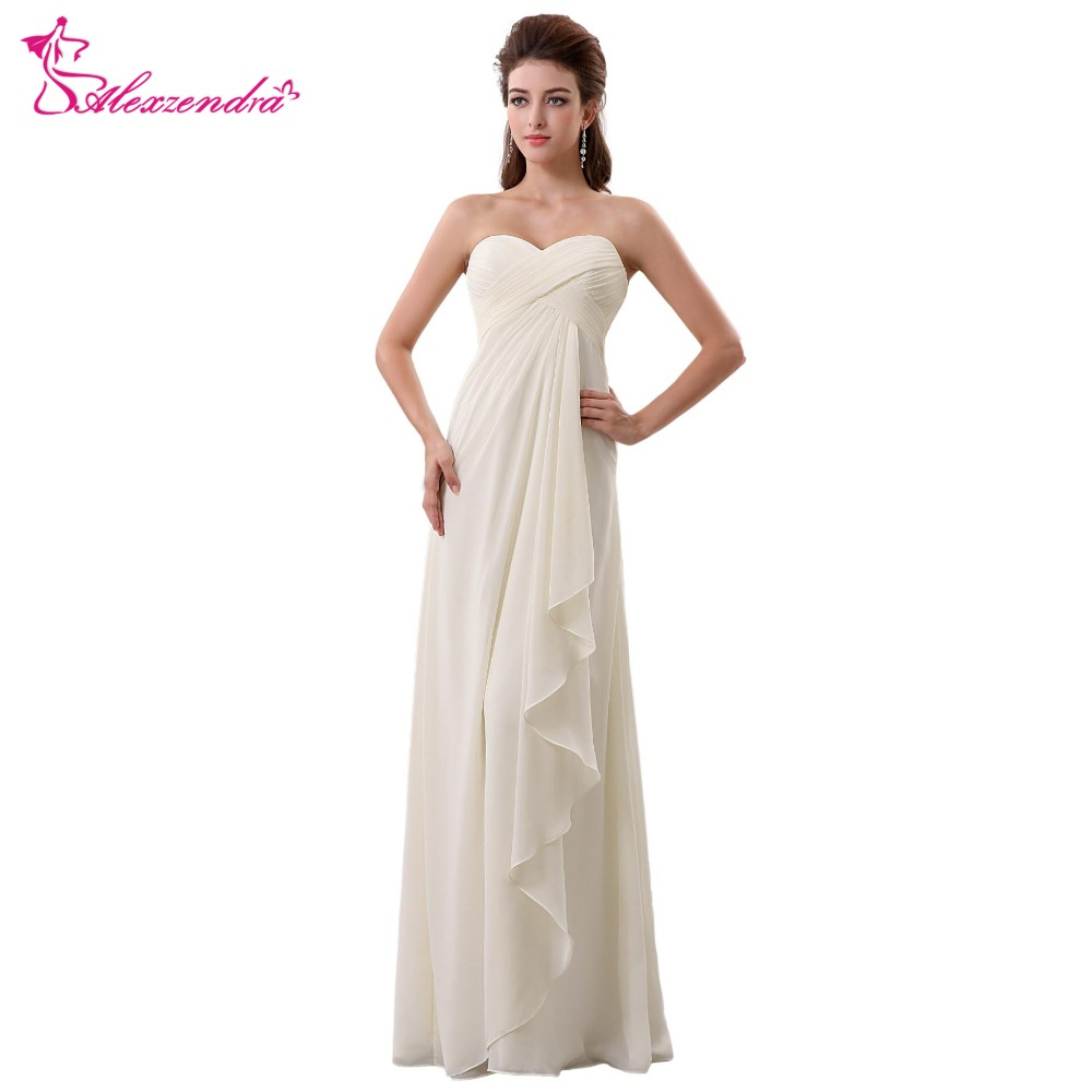 Alexzendra Ivory A Line Pleats Sweetheart Bridesmaid Dresses Party Dress for Wedding Bridesmaids Gown