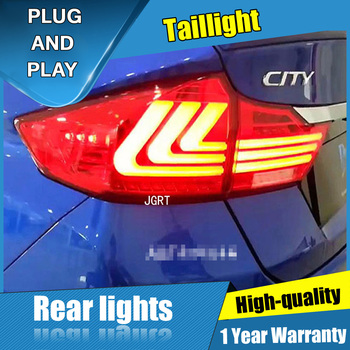 4PCS Car Styling for Honda City  Taillights 2015 for  City  LED Tail Lamp+Turn Signal+Brake+Reverse LED light