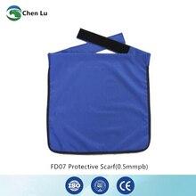 Подлинная защита гонаделения для взрослых 0,5 mmpb полусвинцовый фартук медицинские гамма лучи и рентгеновский защитный квадратный шарф