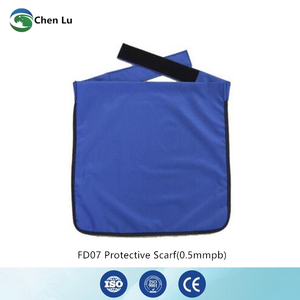 Image 1 - Genuine adult gonadal protection 0.5mmpb half lead apron medical gamma rays and x ray radiation protective square scarf