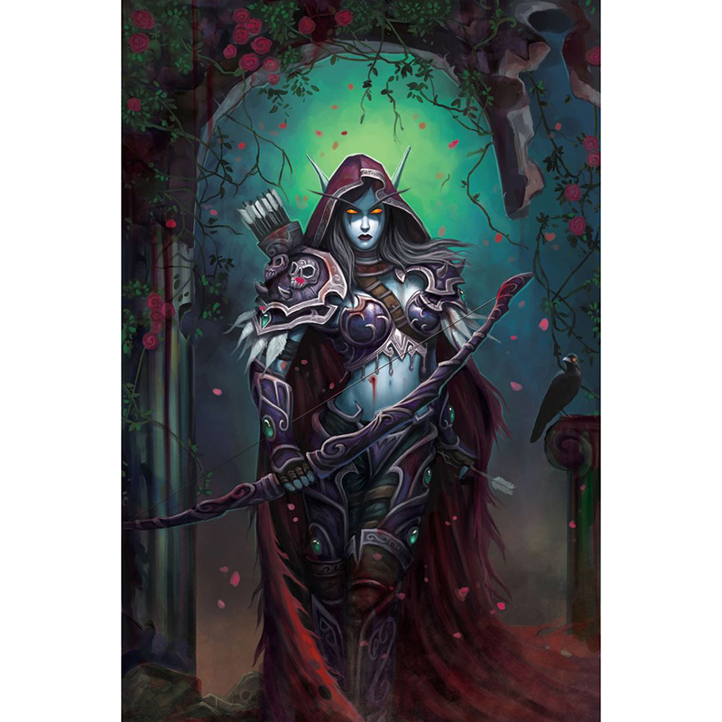 diy Diamond Painting Cross Stitch WOW Archer Sylvanas 5d Full Resin square Diamond Mosaic Embroidery Rhinestones JS2871