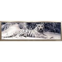 3D Diamond Mosaic DIY Diamond Painting Cross Stitch Pattern Resin Square Drill Diamond Embroidery White Tiger