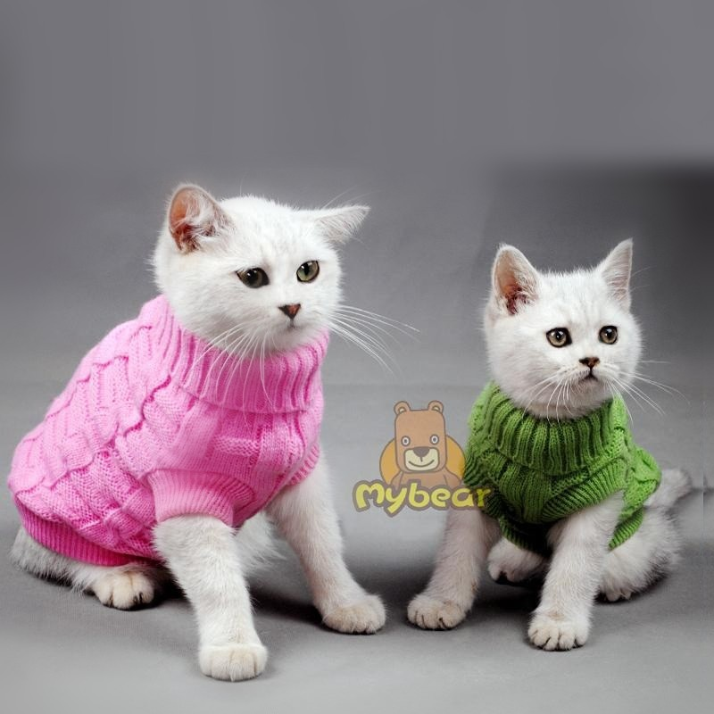 NUOVO Spagetti Color Warm Autumn Winter Cat Cat Maglione Pet Jumper Cat Clothes Per cani di piccola taglia