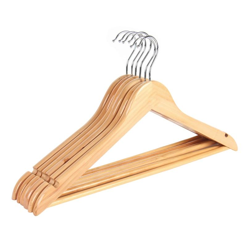 6 Pack Extra Wide Wood Clothes Hanger Coat Hanger Rounder Shoulder Suite  Hanger For Closet
