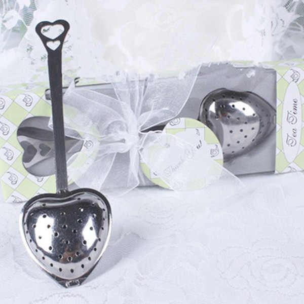 Hart Ontwerp Lepel Thee-ei Filter Bruiloft Souvenir Bruids Douche Gunst Gift QJ888