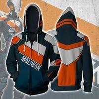 BOOCRE Game Borderlands 2 Cosplay Assassin Zer0 Costumes 3D Printed Zipper Hoodies Unisex Adult Jackets